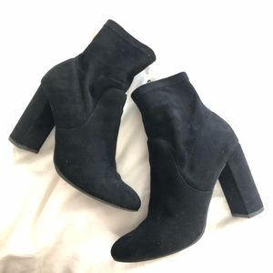 🖤Black Faux Suede Sock Bootie🖤
